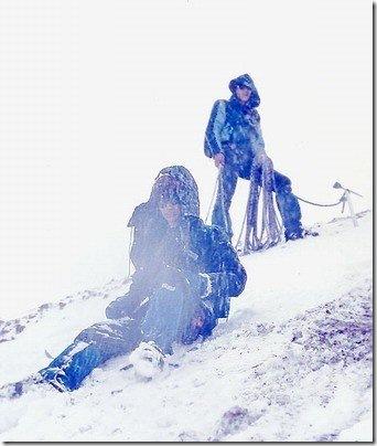 Yuri Vieira e Fernando Espinoza no vulcão Cotopaxi, de 5890 metros