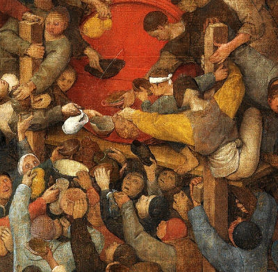 "Pieter Breughel, Detail from ""The Wine of St. Martin's Day,"" ca."