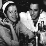 Hilda e Cassito, em 1955. Esse é o cara que, muito chateado por Hilda ter rompido o namoro com ele, metralhou a portaria do prédio onde ela morava...